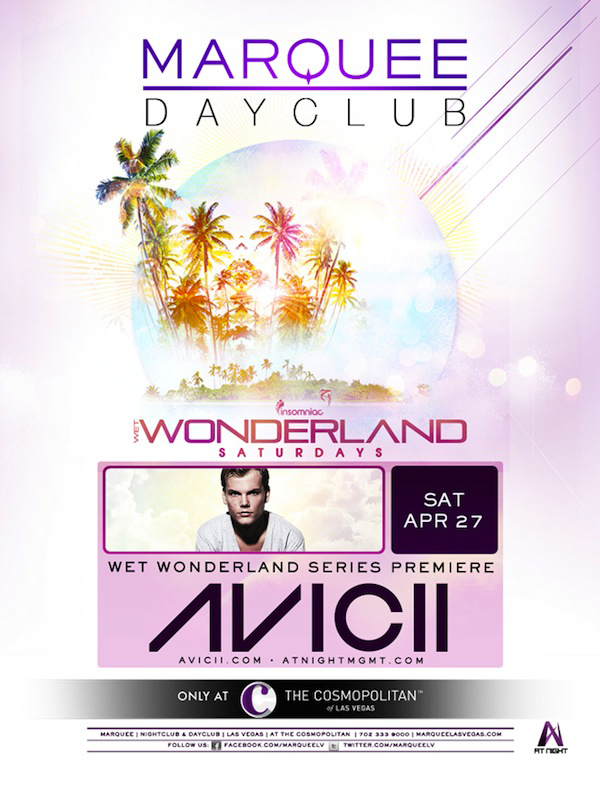 "Insomniac & Marquee Dayclub Announce the Return of ""Wet Wonderland"""