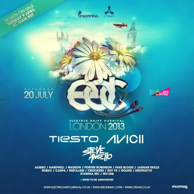 Insomniac Events Presents First-Ever Electric Daisy Carnival London – July 20