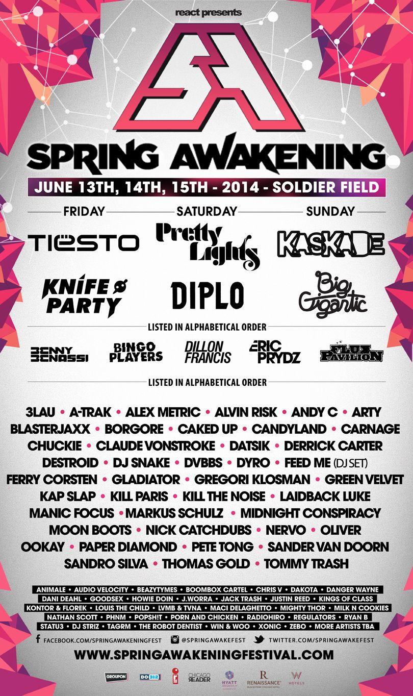 Tomorrowland Music Festival 2014 Lineup Music Festival 2014 Lineup