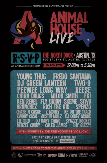 Catch DJ Green Lantern, FKi, Austin Millz & More LIVE at Animal House SXSW '14