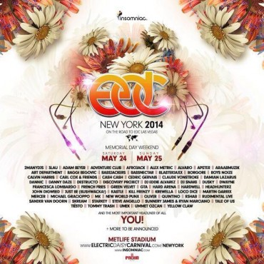 Insomniac Reveals Their Epic EDC New York Lineup For Memorial Day Weekend