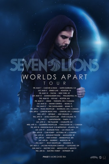 """Worlds Apart"" Phase 1 Tour Dates Announced by Seven Lions + Listen To Norin & Rad's Remix of ""Strangers"""