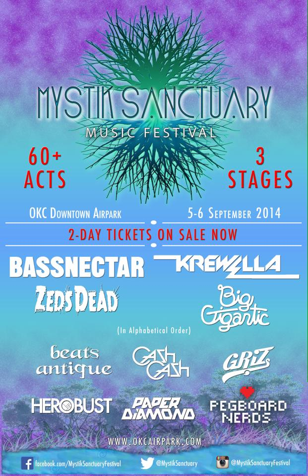 Mystik Sanctuary Music Festival's Killer Phase 1 Lineup Including Bassnectar, Zeds Dead, Krewella, Big Gigantic & More