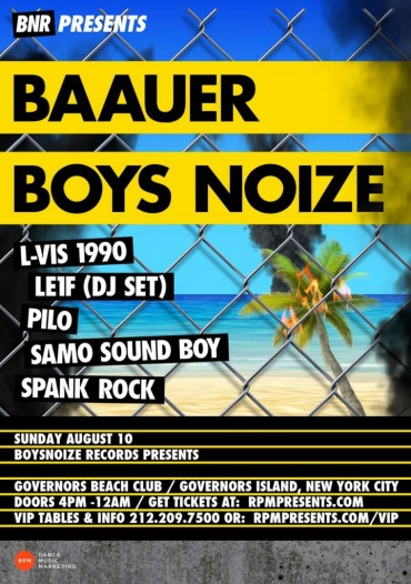 Baauer & Boys Noize Join Forces And Will Be Stopping At Governors Island NYC