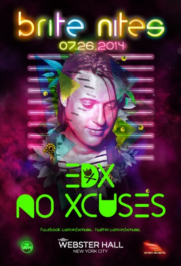 [Event Preview] EDX at Webster Hall, New York 7/26 + No Xcuses Podcast 178
