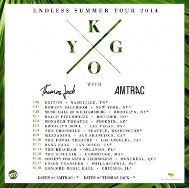 "KYGO Releases The Weeknd Remix & Announces ""Endless Summer"" Tour"
