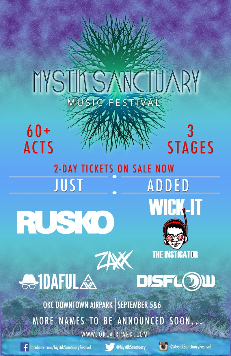 More Acts Added to Mystik Sanctuary Music Festival!