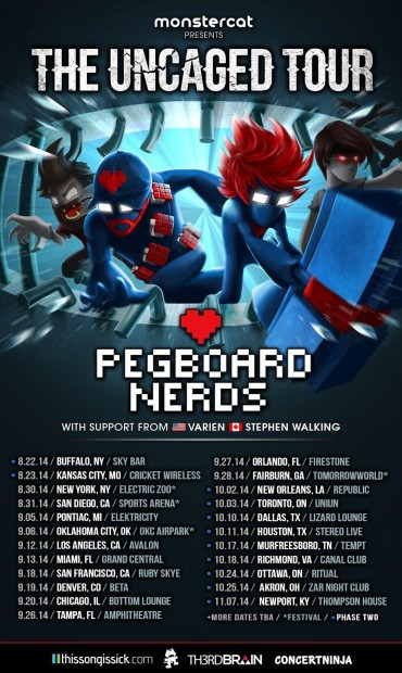 "Pegboard Nerds Announces Massive ""Uncaged"" Tour + ""New Syle"" Single"
