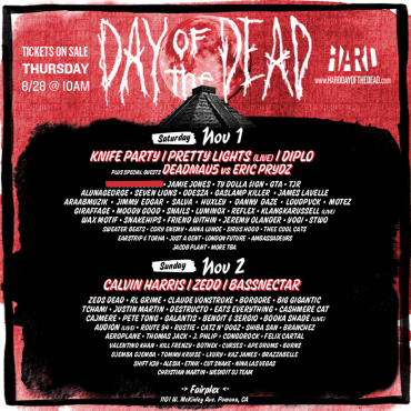 HARD Presents An Exceptional 'Day of the Dead' Lineup, Pre-Sale Tickets Now Available