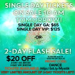 Single Day Tickets on sale TOMORROW