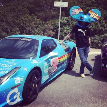 Deadmau5 Says Goodbye to the Nyan Cat 458 Spider Ferrari (Purrari)