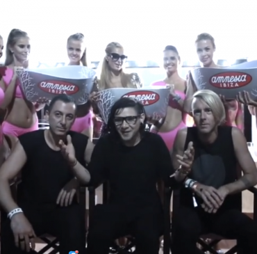 Skrillex Takes the ALS Ice Bucket Challenge With Paris Hilton; Challenges Kanye West