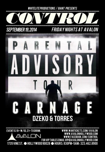 [Event Preview] Carnage Brings The Parental Advisory Tour To Avalon Hollywood 9/19