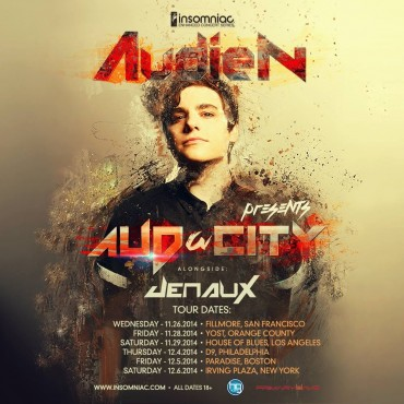 Audien Announces Upcoming Tour With Support From Jenaux