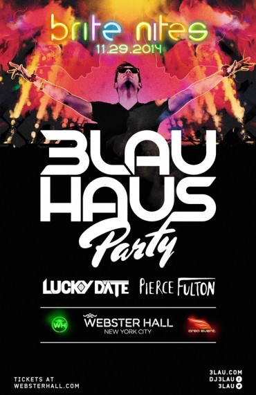3LAU, Lucky Date and Pierce Fulton To Invade Webster Hall NYC