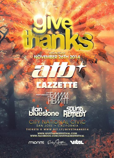 Giveaway: Give Thanks 2014 – San Jose, CA