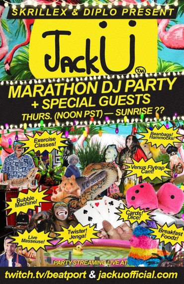 Jack Ü (Skrillex & Diplo) Take You There with 24 Hour Live Stream DJ Set