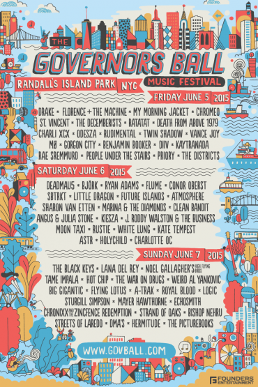 Preview: The Governors Ball 2015 Has Something For Everyone