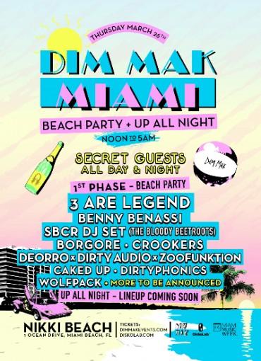 Dim Mak Miami Beach Party Phase One Lineup Announced