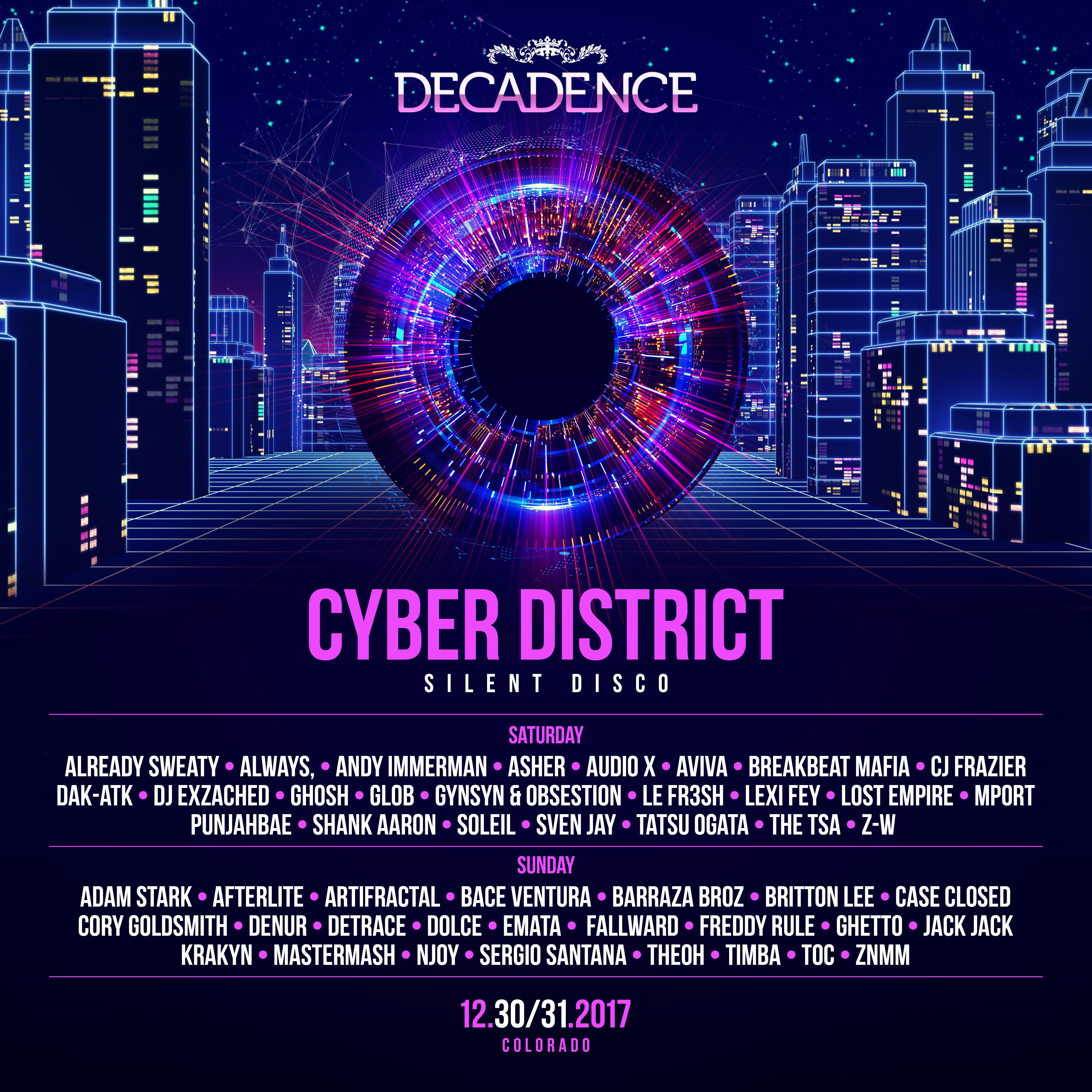 Decadence Denver Reveals Daily Lineups For City Beyond