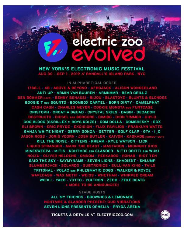 electric zoo 2019