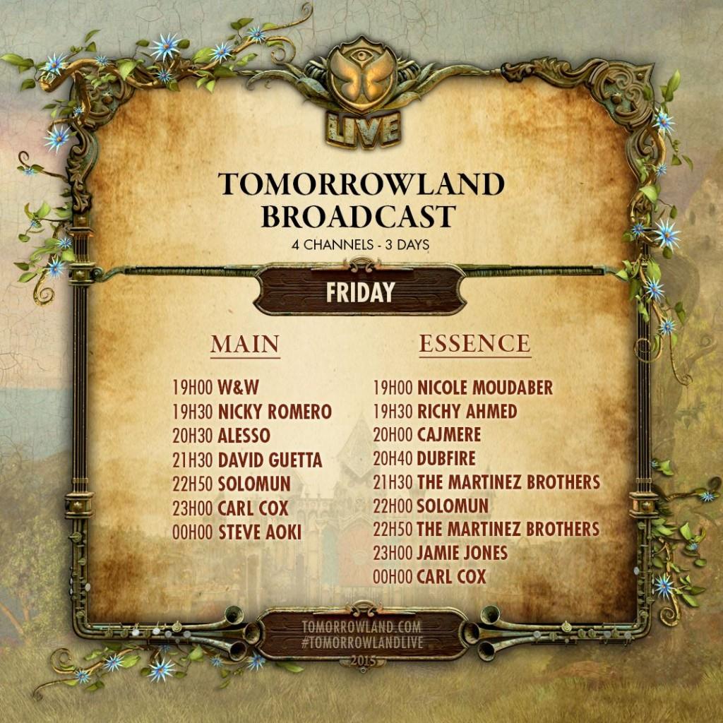 Tomorrowland Broadcast