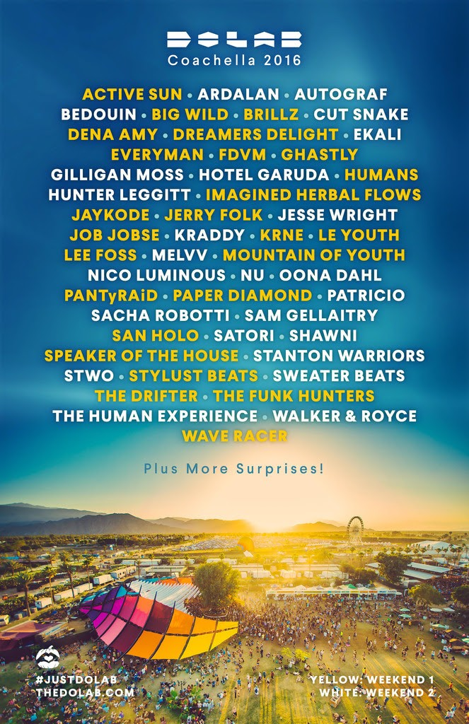 The Do Lab 2016 Coachella Lineup
