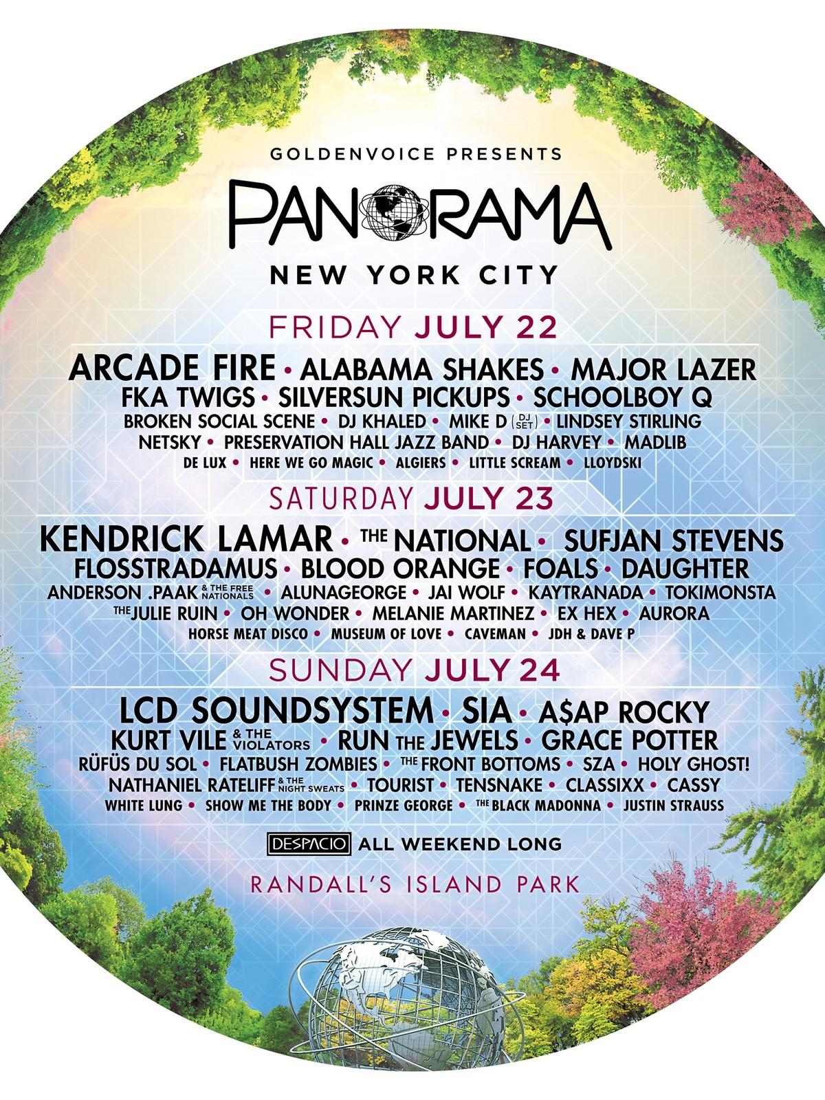 panorama lineup