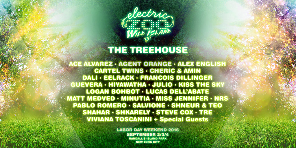 Electric Zoo Announces New Treehouse Stage & Shares