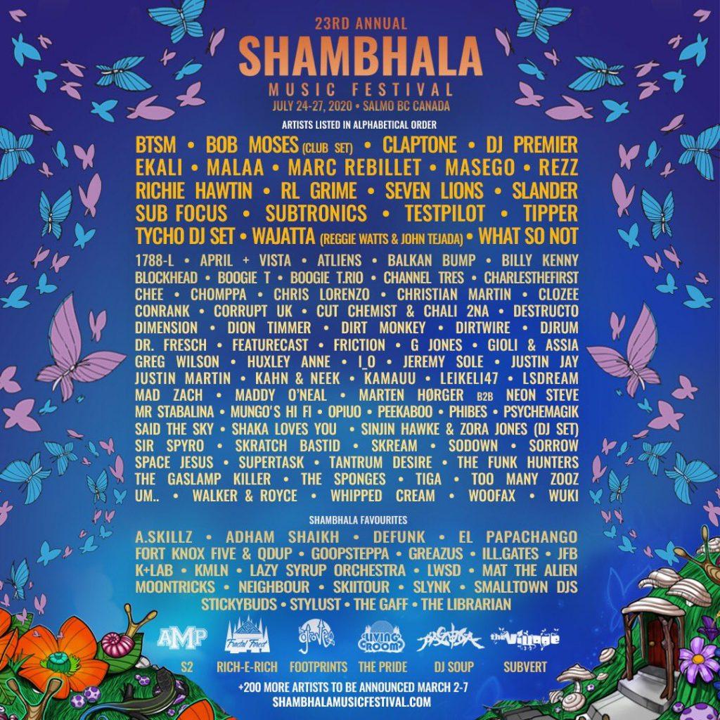 shambhala lineup 2020