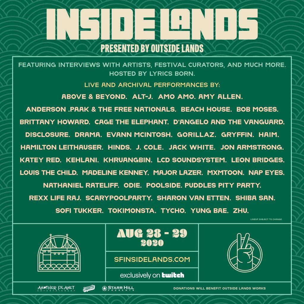 inside lands lineup