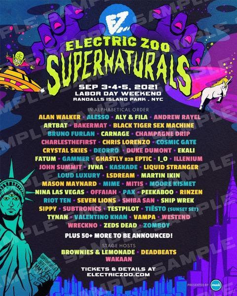 Electric Zoo 2021 Lineup
