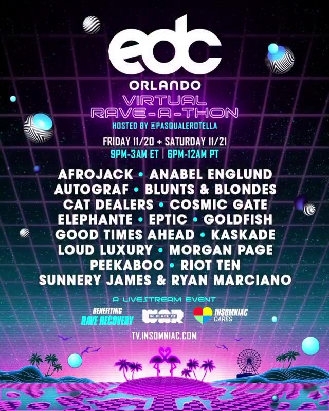 EDC Orlando Virtual Rave-A-Thon
