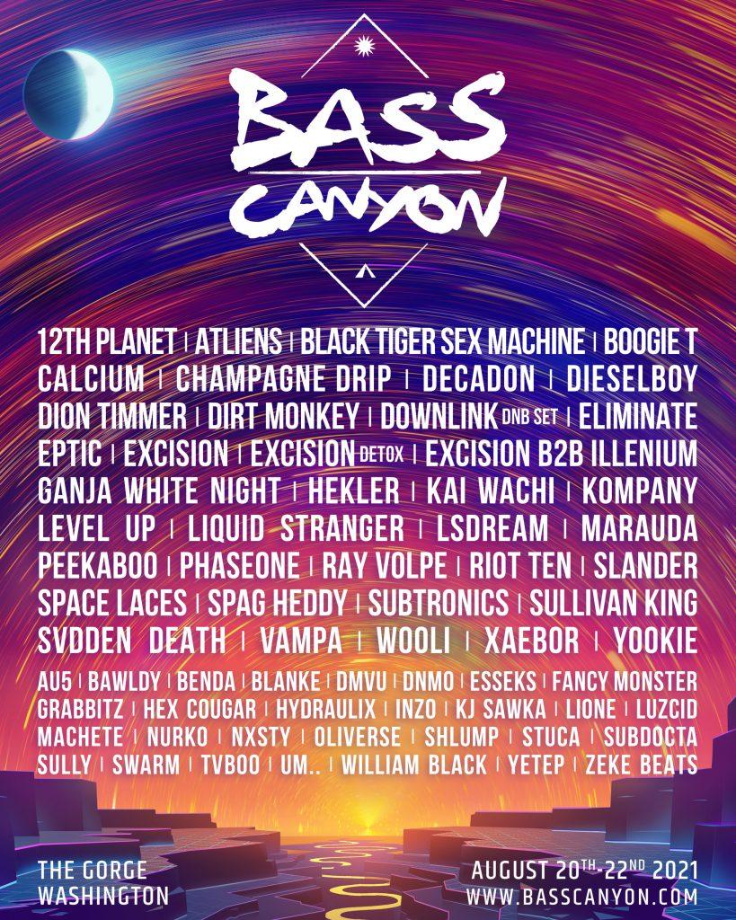 bass canyon 2021 lineup